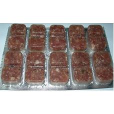 Discus, nourriture spécial pour élevage de discus, Nourriture mixte congelée sous blister 100gr x 10